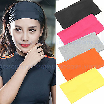 High-quality Wide Stretch Cotton Yoga Headband Hair Bands Turban Dance Sports