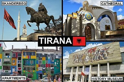 SOUVENIR FRIDGE MAGNET of TIRANA ALBANIA
