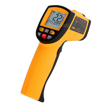 New LCD Digital IR Infrared With Laser Thermometer Non Contact