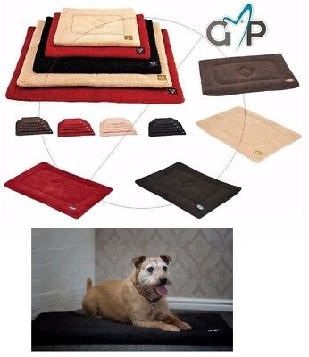Washable Pet Dog Mat Puppy Crate Cage Travel Sherpa Thick Fleece Dog Mattress
