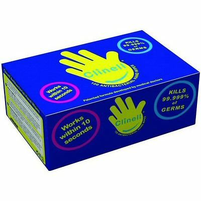 Clinell Antibacterial Hand Wipes - Pack of 100 Satchets