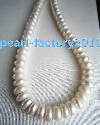 "baroque 18"" AAA 11 MM SOUTH SEA NATURAL White PEARL NECKLACE 14K GOLD  CLASP"