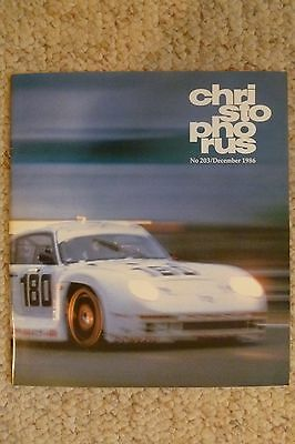 Porsche Christophorus Magazine English #203 December 1986 RARE!! Awesome L@@K