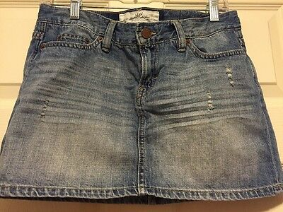 2eb6cca4cc H&M WOMEN'S SHORT Distressed Look Denim Skirt Size 8 - $5.00 | PicClick
