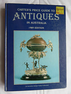 Carters Antique Price Guide 1989 Edition Reference Book More AVA LAYBY AVAILABL