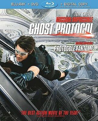 Mission: Impossible Ghost Protocol Blu-ray/DVD 2-Disc & Slipcover FREE USA SHIP!