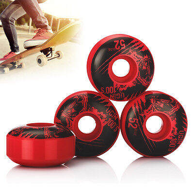 4PCS UGIN The Wolf Series Skateboard Wheels 52x30mm New Version Red