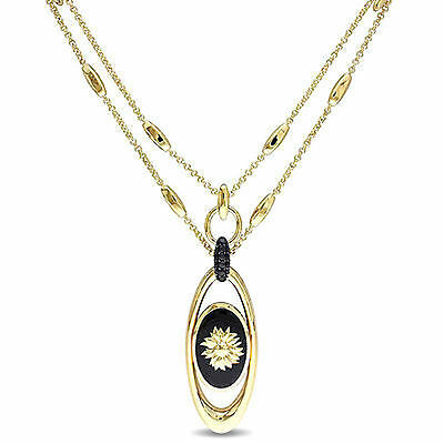 Amour Sunflower Necklace in 18k Yellow Gold Plated Sterling Silver