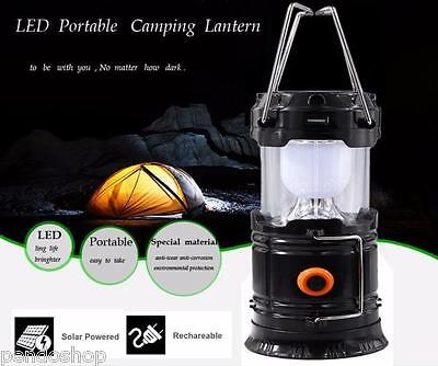 Outdoor Rechargeable Solar Panel Camping Lantern LED Tent Hanging Light Lamp lot