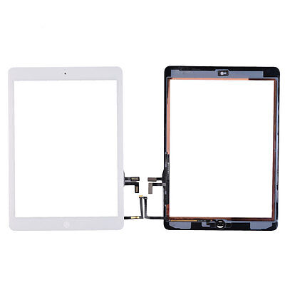 UK Ship White Touch Screen Digitizer + Home Button Flex Cable For iPad Air