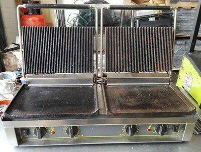 Roller Grill Double Panini Contact Grill /Sandwich Toaster