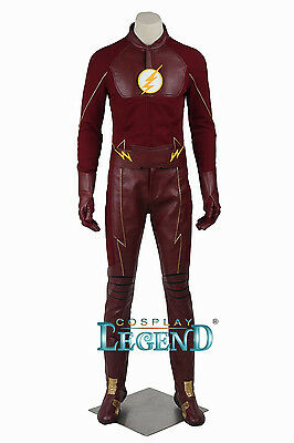 Custom made The Flash Season 2 Barry Allen costume for Halloween and party