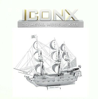 Fascinations Metal Earth Black Pearl Pirate Ship ICONX Laser Cut 3D Model