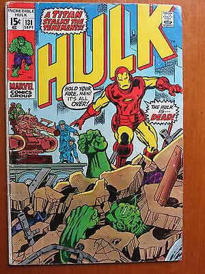 Incredible Hulk #131 (Sep 1970, Marvel)  & Iron Man