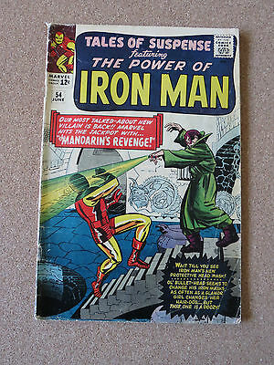 Tales of Suspense #54 VG  2nd appearance of the Mandarin!