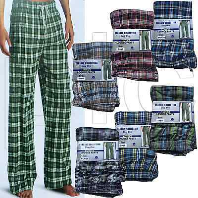Mens Classic Check Woven Cotton Lounge Pants Bottoms Nightwear Pyjamas Lot S-XL