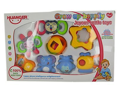 8Pc Baby Shaking Rattles Activity Entertainment Toys Playset 777-41A