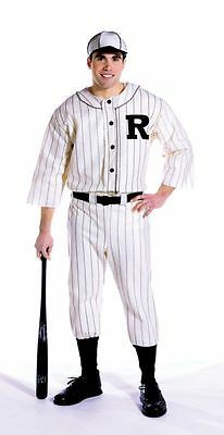 Adults Mens Retro 1930S Old Tyme Baseball Player Sports Costume - One Size