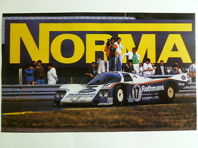 1988 Porsche 962 Rothmanns Coupe Print, Picture, Poster RARE!! Awesome L@@K