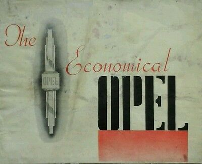 Opel Cadet, Olypmia, Super Six & Admiral Sales Brochure - Sept 1937 & Price List