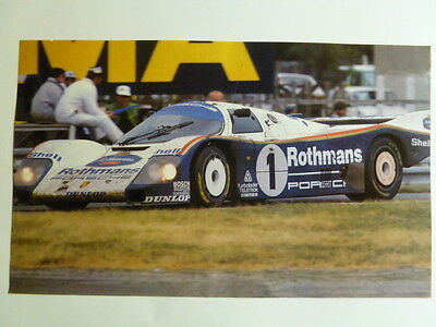 1987 Porsche Rothmans 962 Coupe Print, Picture, Poster RARE!! Awesome L@@K