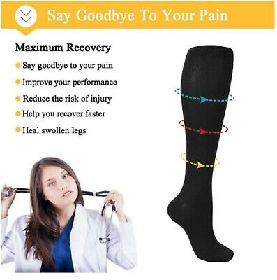 Medical Compression Socks Anti Fatigue Copper Infused - One Pair -  UK SELLER