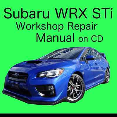 NEW - Subaru Impreza WRX STi Repair Workshop Manual on CD Covers 1996 to 2005
