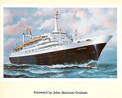 Holland America Line 1959 Rotterdam Ocean Liner Cruise Ship Picture History Book