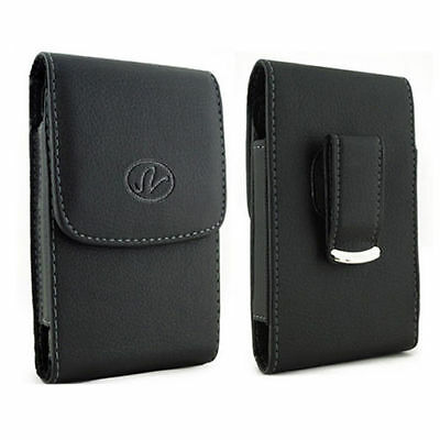 Vertical Leather Pouch Case Cover For ZTE/Acatel/BLU/Kyocera Fit OtterBox Life