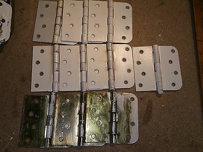"(10) 4""  Door Hinges Straight Square x Round Corner - Used with White Paint"