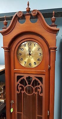 ANTIQUE GERMAN GRANDFATHER CLOCK 60-70 Years Old,CHAIN DRIVE,EXCELLENT CONDITION