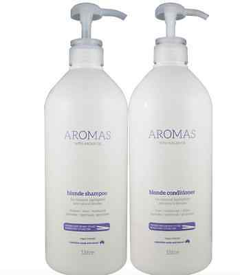 Nak Aromas Argan Oil  Blonde Shampoo and Conditioner 1000ml Duo Pack 1 Litre