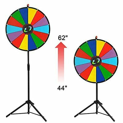 MegaBrand 24 Color-Prize-Wheel-Fortune-Folding-Tripod-Floor-Stand-Carnival