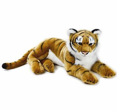 """Tiger Gold Stuffed Animal Extra Large 25""""/65cm National Geographic plush toy NEW"""