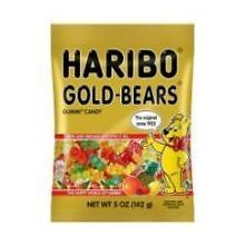 Haribo Gold Bears Gummy Candy, 5 Ounce -- 12 per case.