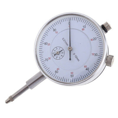 Dial Indicator Gauge 0-10mm Meter Precise 0.01 Resolution Concentricity Test WS
