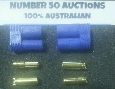 1 PAIR EC5 Male + Female EC5 Lipo Battery Connector with 5mm Gold Bullet Plugs