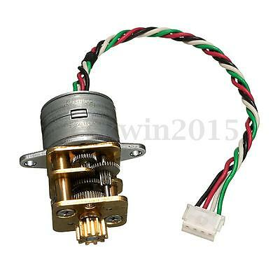 15mm Full Metal GearBox DC5V-12V 2 Phase 4 Wire Gear Reducer Stepper Motor 232:1