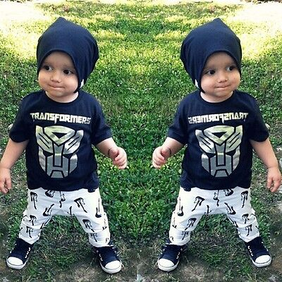 Kids Clothing Baby Toddler Top t-Shirt Boys Pants Outfits Sets Size 2 3 4 5 6 7