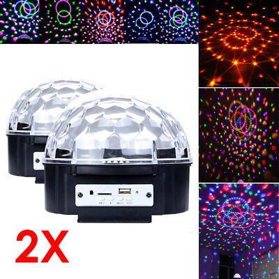 2x LED Effect Stage 3 Color RGB Laser Light Bar Party Magic Ball AUTO + Remote