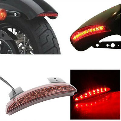 16 LED Motorcycle Rear Brake Stop License Plate Integrate Tail Light For Harley