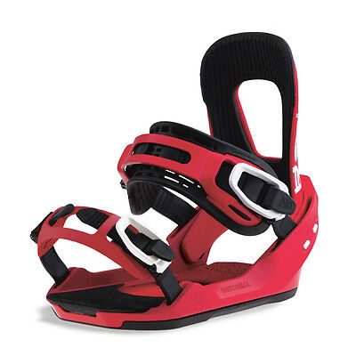 Switchback 2017 Heater Mens Snowboard Bindings Park Freestyle M L Red
