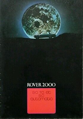 Rover P6  2000 Swiss / French Sales Brochure - December 1971