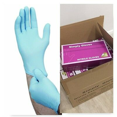 Box Of 1000 Disposable Nitrile Blue Gloves Powder Free Hairdressing Tattoo Food
