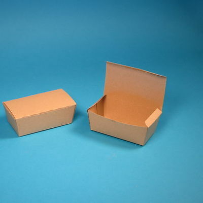 "450 Snackboxen Chickenbox Fingerfood Box klein 124x65x50mm ""Pure"" Hartpapier"