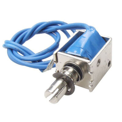 DC12V Push Type Open Frame Solenoid Electromagnet Actuator 10mm 4N WS