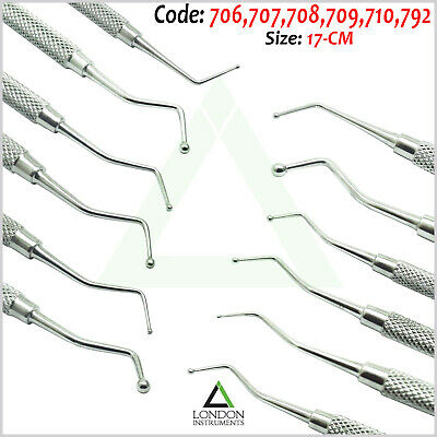 6Pcs Dental Filling Instruments Restorative Ball Burnisher Amalgam Composite Lab