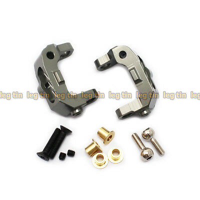 Alloy Front C Hub Carriers (1 pair) set Grey for Kyosho Optima 2016