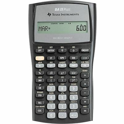 Texas Instruments BAIIPLUS Advanced Financial Pro Calculator New