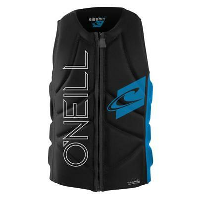 ONeill Slasher Comp Impact Wakeboard Vest Blue Oneill Life Jackets